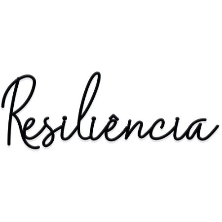 Lettering Resiliência