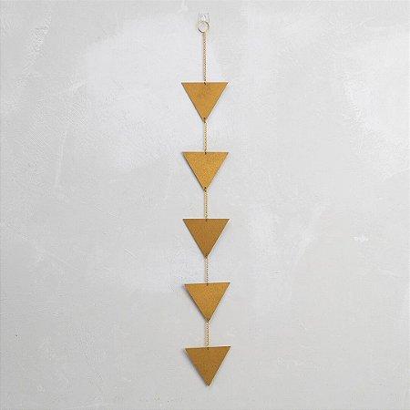 Móbile Triângulos Vertical Dourado