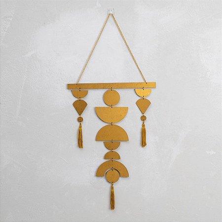 Móbile Geométrico Dourado