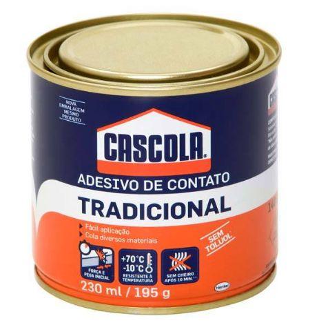 Adesivo de contato Tradicional Cascola 230ml / 195g