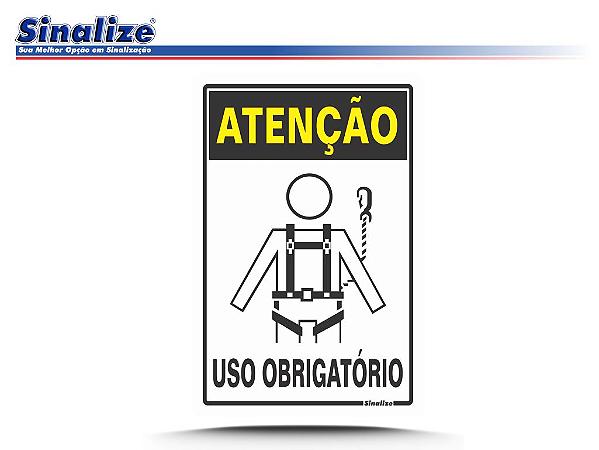 ATENÇÃO CINTO DE SEGURANÇA USO OBRIGATÓRIO