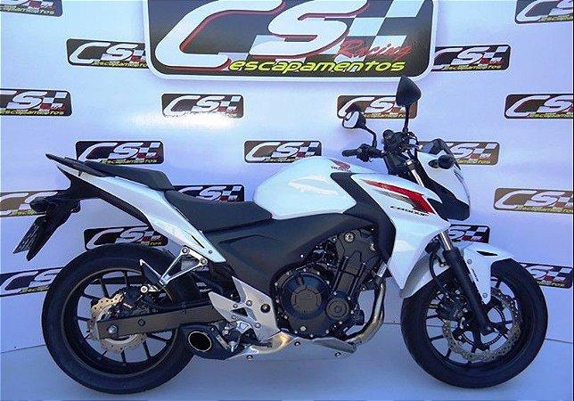 Escapamento Honda Cb500 F,R,X 2013 A 2015 Full Completo