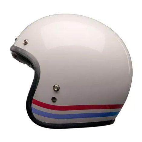Capacete Bell Custom 500 Stripes Pearl