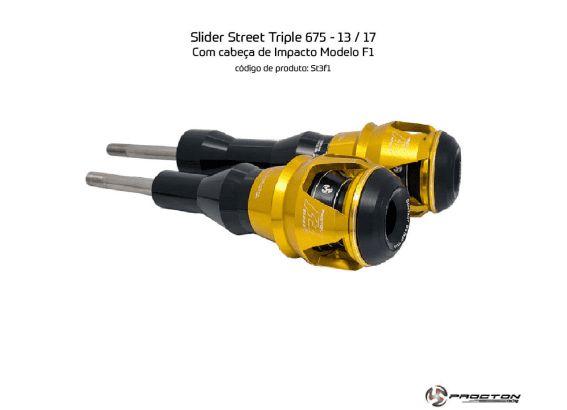 Slider Street Triple 675 Triumph 13 a 17 Procton