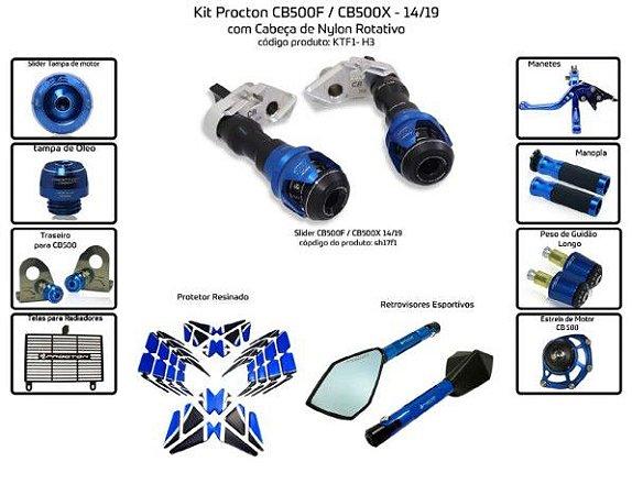 Kit Slider Cb500f Cb500x 14 a 19 Procton (11 pçs)