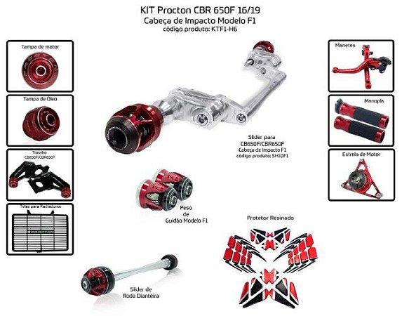 Kit Slider Cbr 650f 16/19 Procton (11pçs)