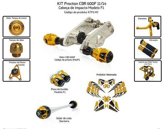 Kit Slider Cbr 600f 11 a 14 Procton (10 pçs)
