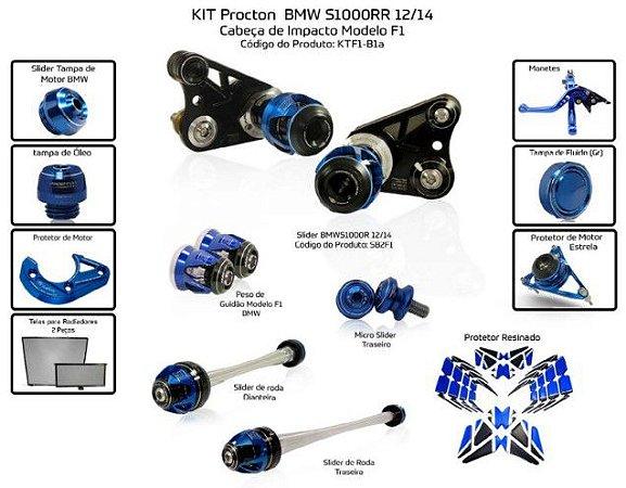 Kit Slider S1000rr 12 a 14 Procton ( 13 peças )