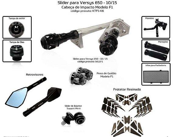 Kit Slider Versys 650 10 a 15 Procton ( 10 peças)