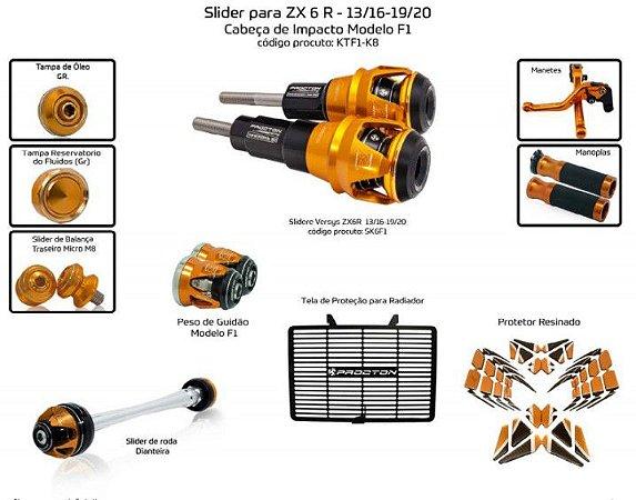 Kit Slider Zx6r 13 a 20 Procton ( 10 peças)