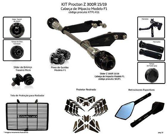 Kit Slider Z300 15 a 19 Procton ( 11 peças)