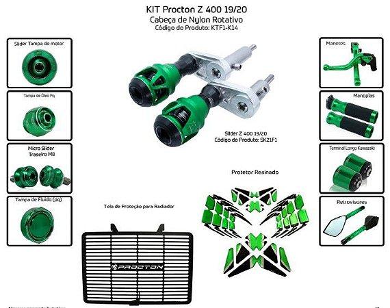 Kit Slider Z400 19/20 Procton (11 peças)