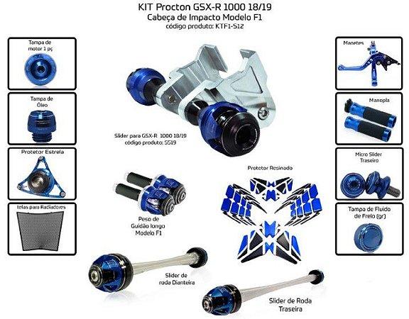 Kit Slider Gsx-R1000 18/19 Procton ( 13 peças )