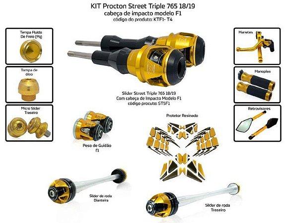 Kit Slider Street Triple 765 18/19 Procton ( 11 peças )