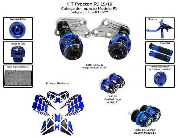 Kit Slider R3 15 a 19 Procton ( 10 peças )