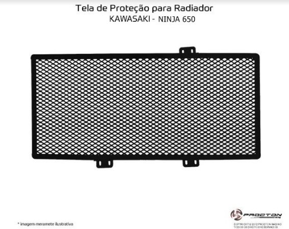 Protetor de radiador Kawasaki NINJA 650