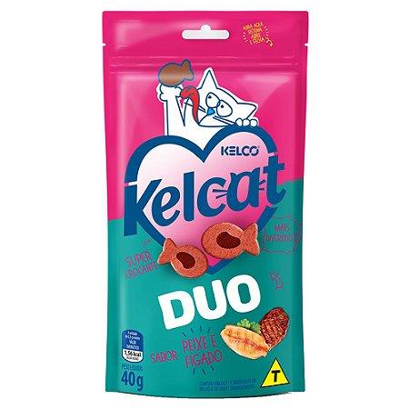 Snack Para Gatos Kelcat Duo Peixe e Fígado 40g