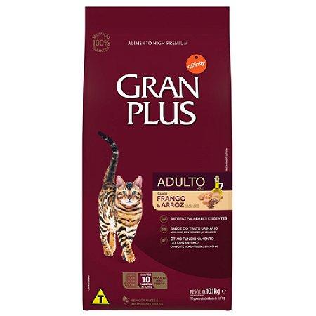 Ração Gran Plus Gatos Adultos Frango e Arroz 10 Pcts De 1kg