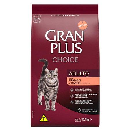 Ração Gran Plus Choice Gatos Adultos Carne e Frango 10,1kg