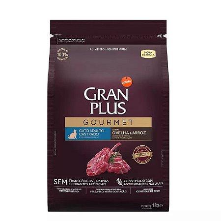 Ração GranPlus Gourmet Gatos Castrados Ovelha e Arroz 1kg