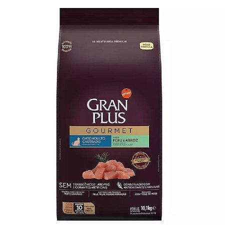 Ração GranPlus Gourmet Gatos Castrados Peru 10 pct ind 1kg