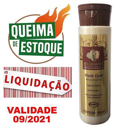 Condicionador Black Coat Avelã & Henna 300ml Ecovet - LIQUIDAÇÃO