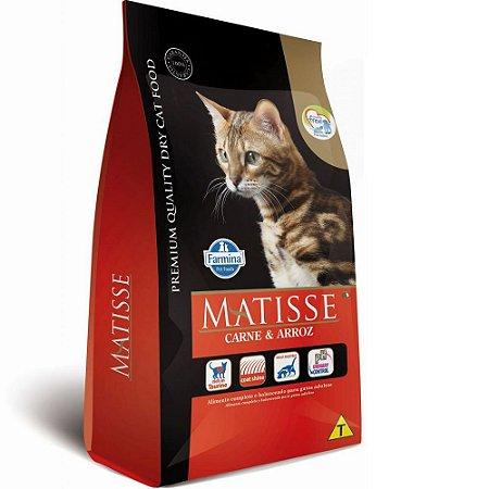 Ração Farmina Matisse Gatos Adultos Carne e Arroz 0,8kg