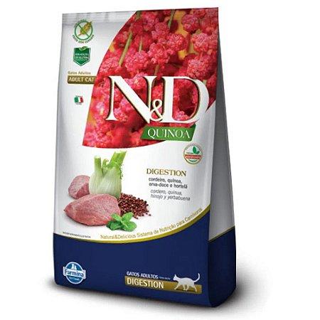 Ração N&D Quinoa Digestion Gatos Adultos Cordeiro 400g