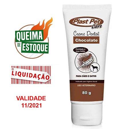Creme Dental Plast Pet Care Chocolate 80g (VAL: 11/21)