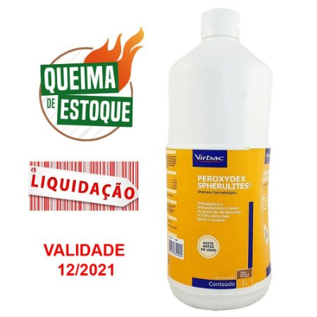 Shampoo Peroxydex Spherulites 1L - Virbac (VAL: 12/21)
