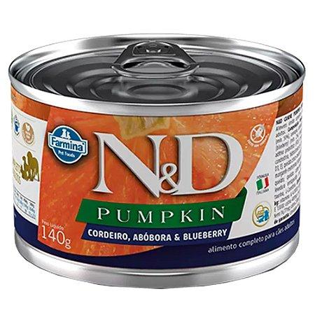 Ração Úmida N&D Lata Cães Pumpkin Sabor Cordeiro 140g