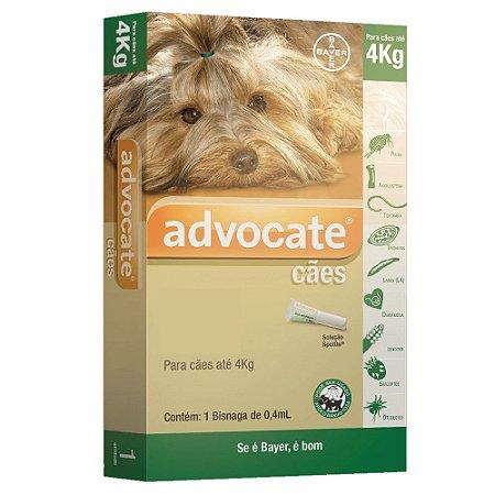 Advocate para Cães até 4kg Antipulgas e Carrapatos 0,4ml