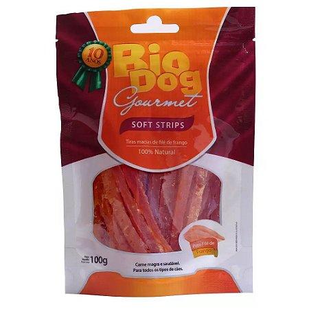 Petisco Biodog Gourmet Soft Strips 100g