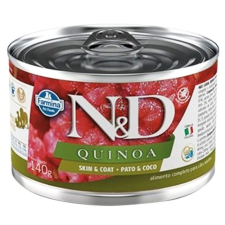 Ração Úmida N&D Lata Cães Quinoa Skin Sabor Pato 140g