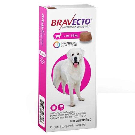 Bravecto comprimido Para Cães 40 A 56kg - Antipulgas e Carrapatos
