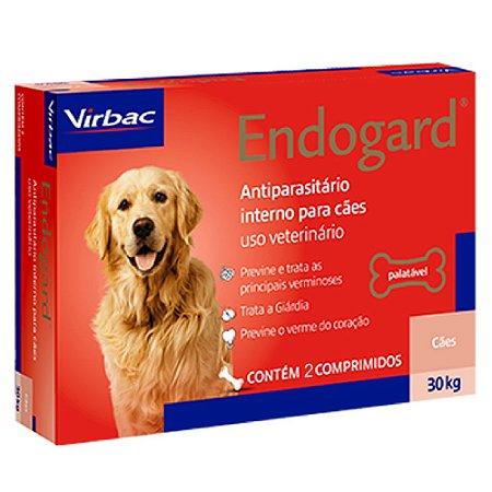 Vermífugo Endogard Cães até 30kg - 2 Comprimidos - Virbac