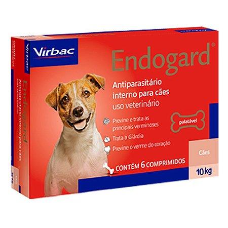 Vermífugo Endogard Cães Até 10kg - 6 Comprimidos - Virbac
