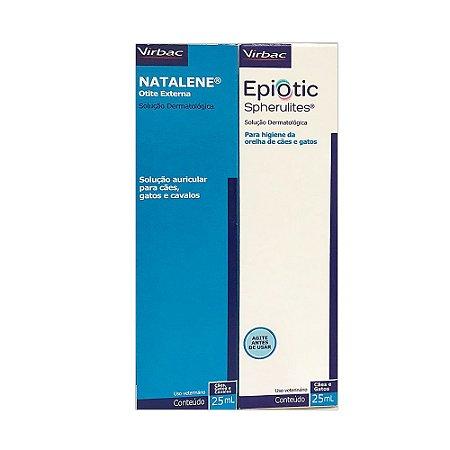 Kit Solução Otológica Virbac Natalene + Epiotic 25ml Cada