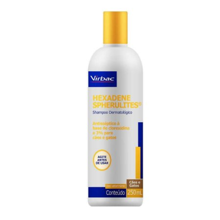 Shampoo Hexadene Spherulites 250ml para Cães e Gatos - Virbac