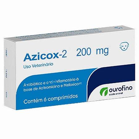 Antibiótico Azicox 200mg 6 Comprimidos - Ourofino
