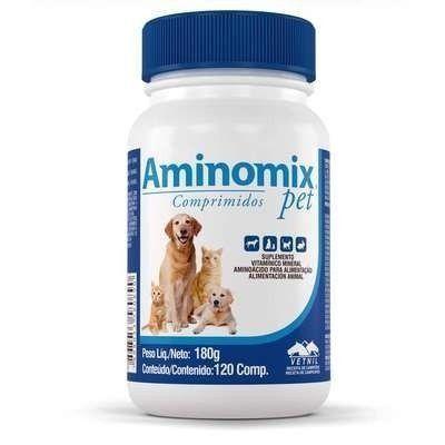 Suplemento Vitamínico Aminomix Pet 120 Comprimidos - Vetnil