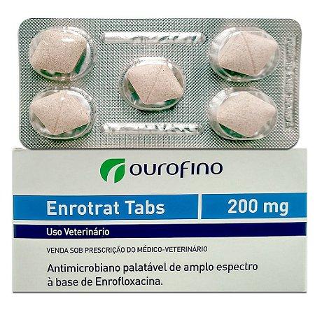 Antibiótico Enrotrat Tabs 200mg 5 Comprimidos Cartela Avulsa + Bula