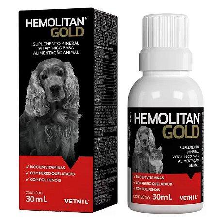 Suplemento Vitamínico Hemolitan Gold 30ml - Vetnil