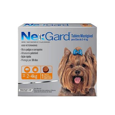 Nexgard Antipulgas e Carrapatos Cães 2 a 4Kg 1 Tablete - Boehringer