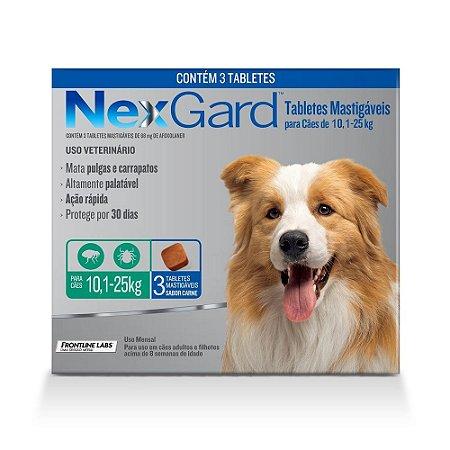 Nexgard Antipulgas E Carrapatos Cães 10,1 A 25kg 3 Tabletes - Boehringer