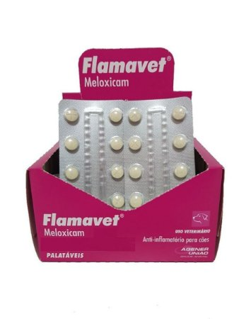Anti-Inflamatório Flamavet 0,5mg - 10 Comprimidos Cartela Avulsa + Bula