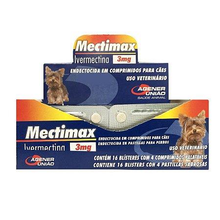Mectimax 3Mg - Blíster 4 Comprimidos - Cartela Avulsa + Bula