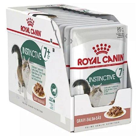 Ração Úmida Royal Canin Gatos Acima de 7 Anos Instinctive 7+ Combo 12un 85g Cada