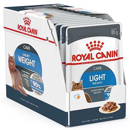 Ração Úmida Royal Canin Gatos Light Weight Combo 12un 85g