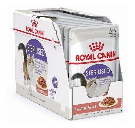 Ração Úmida Royal Canin Gatos Castrados Sachê Sterilised Wet Combo 12un 85g Cada